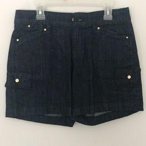 White house/Black Market brand dress denim shorts